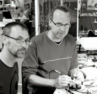 Arne Andersson och Johan Bäckman, båda tekniker, möjliggör forskning inom biologi och ekologi.