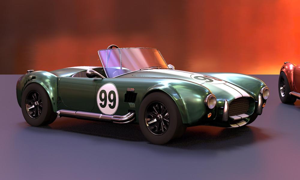 Fotorealism av sportbil av Petrik Clarberg.