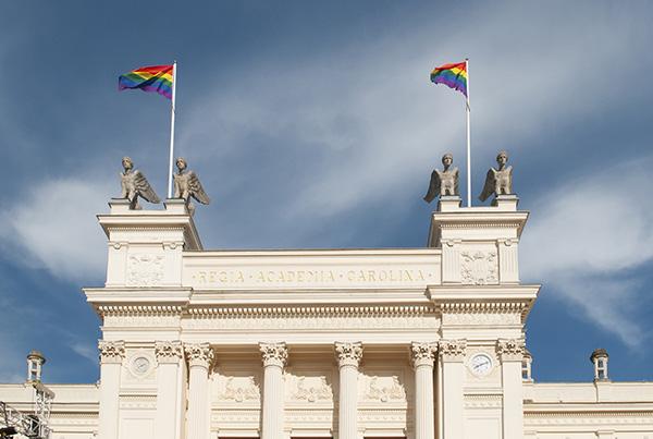 Den 16 maj 2014 firades Internationella dagen mot homofobi och transfobi, IDAHOT, för andra gången vid Lunds universitet. Dagen inleddes med att regnbågsflaggan för första gången hissades på Universitetshusets tak.