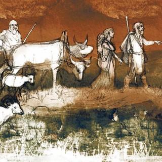 För cirka 4800 år sedan kom ett herdefolk vandrande till Skandinavien. Med dem kom troligtvis bruket av hästar och vagnar.