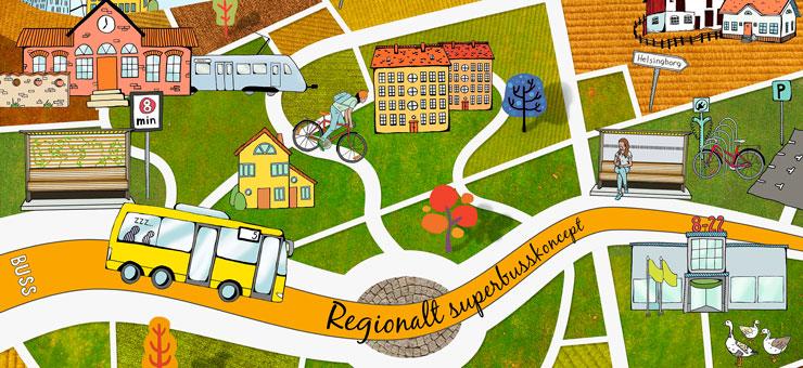 Regionalt superbusskonceptet växer sig större i Skåne. Bild: Region Skåne