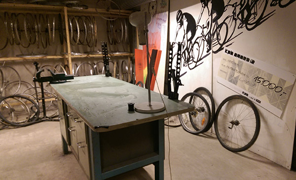 STAPLN in Malmö is an example of a social innovation project. One of their projects is the Bike Kithchen, Cykelköket, an do-it-yourself-shop where you can fix your bike. Photo: Kes McCormick