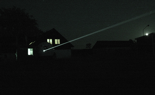 I laserradarns stråle kan forskarna se hur många insekter som flyger förbi