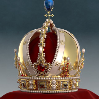 3 D foto av krona av Rasmus Barringer och Tomas Akenine-Möller.