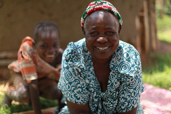 En av de småbrukare som var med och tog initiativ till att starta en kvinnogrupp, Loy Oketcho Mijas, Uganda.