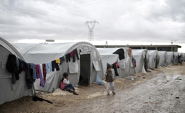 Syriskt flyktingläger